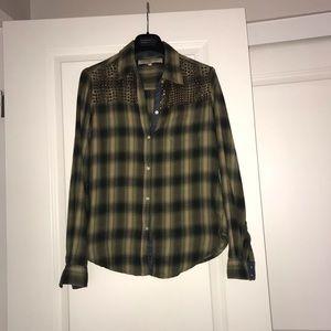 What goes around comes around green plaid shirt